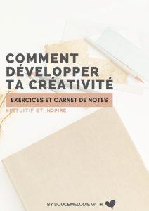 cahier de creativite
