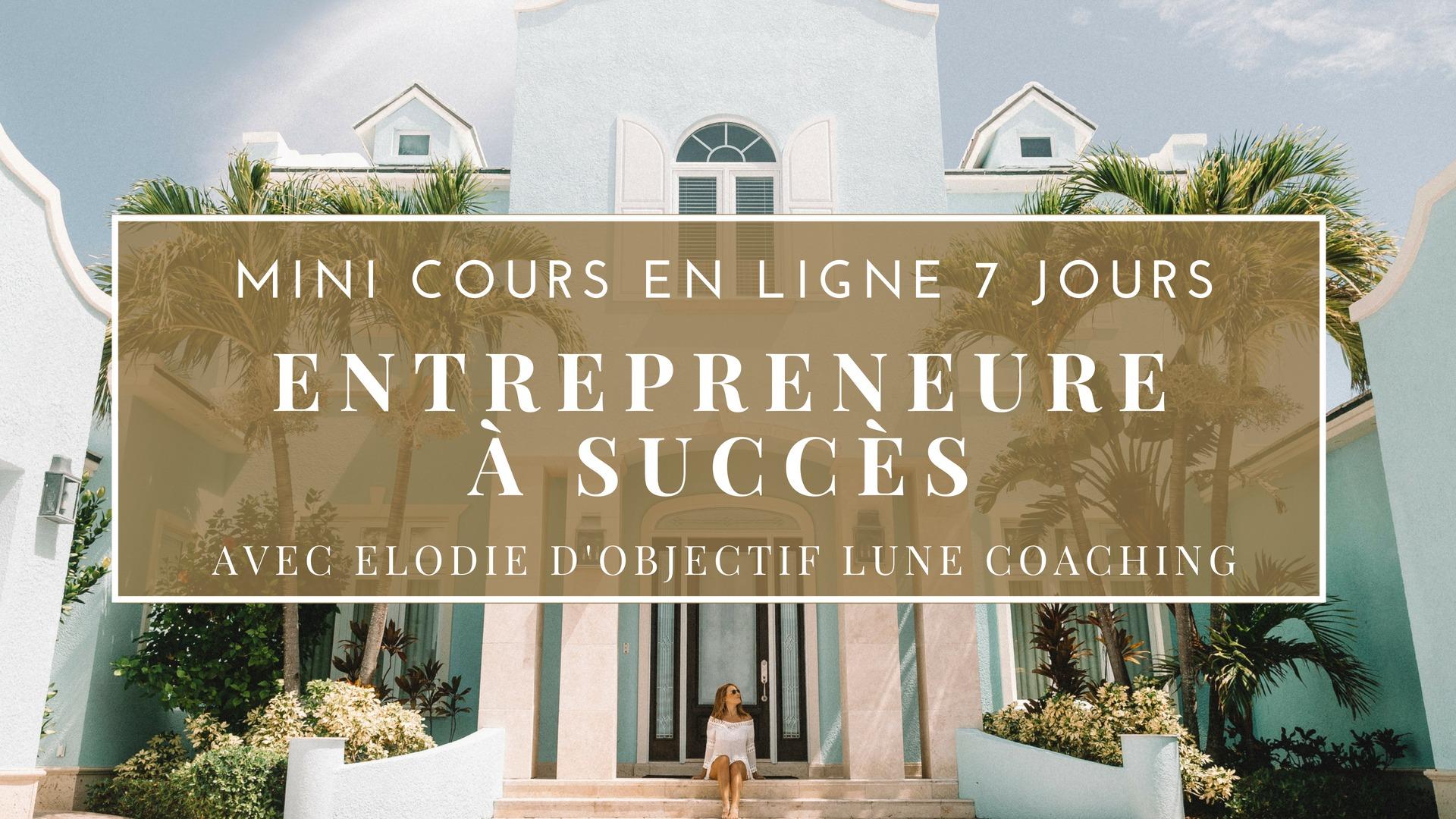 """Mini cours gratuit """"Entrepreneure à Succès"""""""